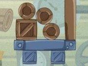 Echilibristica cutii cu lemne