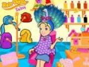 Joc cu barbie la salonul de coafura