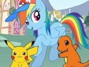Rainbow Dash in cautare de Pokemoni