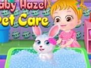 Bebelusul Hazel ingrijeste iepurasul