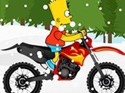 Bart cu motocicleta iarna