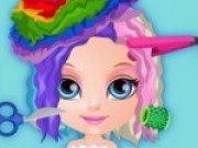 Bebelusa Barbie la coafor iti da Idei de coafuri noi