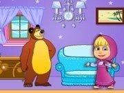 Masha si ursul: Decoreaza casa papusilor