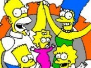 Coloreaza Familia Simpson