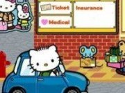Hello Kitty in masina Puzzle