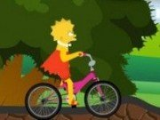 Lisa Simpson si bicicleta