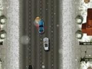 cursa de masini iarna
