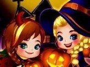 Elsa si Anna de Halloween