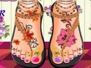 Tatuaje pentru picior si pedichiura