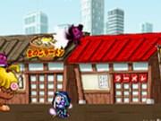 Ninja Batai pe acoperis