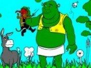 Imagini de colorat cu Shrek
