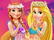 Printesa Rapunzel si Anna Hawaii Shopping