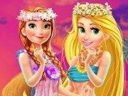 Printesa Rapunzel si Anna Hawaii Shopping