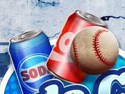Trage cu mingii în cutiile de Coca Cola, Pepsi, Red Bull
