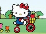 Hello Kitty cu Bicicleta