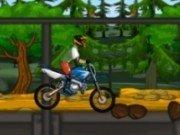 Motocicleta sport in jungla