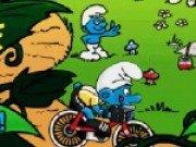 Joc de aventura cu Smurfs pe bicicleta