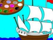 Joc de colorat barci