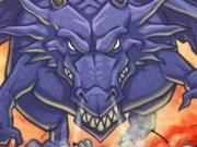 Dragonul zburator care sufla foc