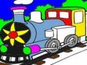 Imagini de colorat cu trenuri