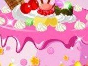 Decor roz pentru tort