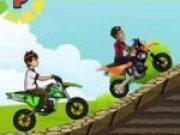 Ben 10 si Naruto in cursa de motociclete