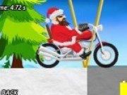 Mos Craciun pe motocicleta