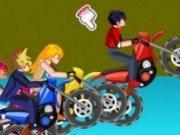 Bayblade vs Yu-Gi-Oh cu motocicleta