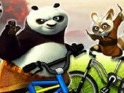 Kung Fu Panda cu bicicleta
