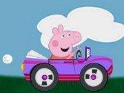 Peppa Pig la plimbare cu masina