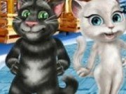 Pisicile vorbarete Tom si Angela