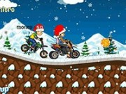 Cursa cu motocicleta pe zăpadă