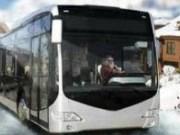 Condu autobuzul pe zapada