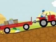 Condu tractorul cu remorca
