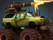 Jeep Monster truck cu foc