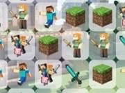 Match 3 personaje din MineCraft