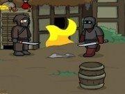 Ninja lupte cu sabii