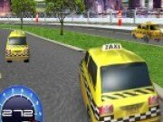 Cursa 3D cu masini de taxi