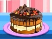 Tort aniversar cu ciocolata si fructe