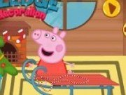 Peppa Pig cu sania