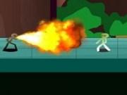 Lupte cu Stickmanul verde Matchstick