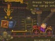Transporta cu caruciorul marfa din mina