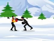 Lupta de box pe zapada