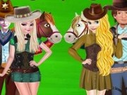 Elsa si Rapunzel aventura cowboy