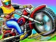 Cu motocicleta la ferma