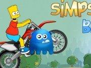 Bart Simpsons cu motocicleta