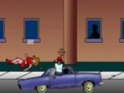 Condu masina si impusca cu pistolul tot ce prinzi