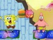Spongebob si Patrick lupta pentru mancare