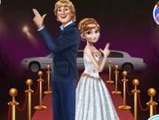 Anna si Kristoff pe covorul rosu