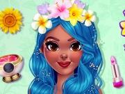 Lily machiaj și haine cu flori